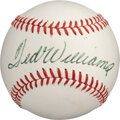 Baseball Collectibles:Balls, Circa 1969 Ted Williams Single Signed Baseball from The Bill Fundaro Collection....