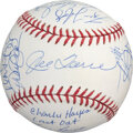 Baseball Collectibles:Balls, 1996 New York Yankees Team Signed Baseball with MLB Authentication Hologram & Steiner COA - PSA/DNA 8.5....