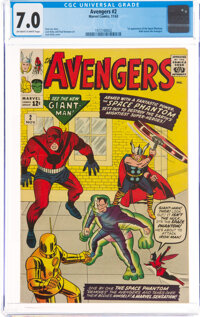 The Avengers #2 (Marvel, 1963) CGC FN/VF 7.0 Off-white to white pages