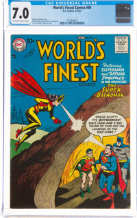 World's Finest Comics #90 (DC, 1957) CGC FN/VF 7.0 Off-white to white pages