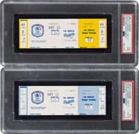 1984 Mike Schmidt 400th Home Run Game PSA-Graded Full Tickets Lot of 2