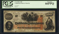 Confederate Notes:1862 Issues, T41 $100 1862 PF-26 Cr. Unlisted PCGS Gem New 66PPQ.. ...