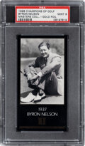 Golf Cards:General, 1998 Champions Of Golf Masters Collection Byron Nelson (1937-Gold) PSA Mint 9....
