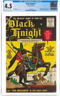 Black Knight #1 (Atlas, 1955) CGC VG+ 4.5 Off-white to white pages
