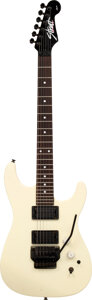 Musical Instruments:Electric Guitars, Circa 1989 Fender HM Strat White Solid Body Electric Guitar, Serial #E915723.. ...