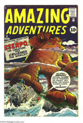 Silver Age (1956-1969):Horror, Amazing Adventures #6 (Marvel, 1961) Condition: FN-. Jack Kirby,Steve Ditko, and Paul Reinman art. Last issue of the title....