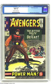 The Avengers #21 (Marvel, 1965) CGC NM+ 9.6 Off-white to white pages. Jack Kirby Cover. Don Heck and Wally Wood art. Cur...
