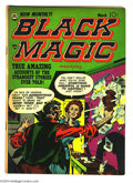 Golden Age (1938-1955):Horror, Black Magic V2#4 (Prize, 1952) Condition: FN+. Joe Simon and JackKirby art. Kirby cover. Overstreet 2004 FN 6.0 value = $10...