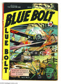 Golden Age (1938-1955):War, Blue Bolt V3#9 (Novelty Press, 1943) Condition: VG. Action-packedcover art by Al Plastino. Overstreet 2004 VG 4.0 value = $...