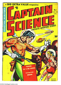 Captain Science #1 Canadian Edition (Bell Features, circa 1950) Condition: VG. Wally Wood art. Corresponds to #1 of the...