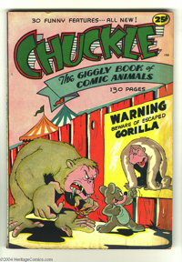 Chuckle, The Giggly Book of Comic Animals #1 (R.B. Leffingwell Co., 1945) Condition: VG+. Squarebound. Overstreet 2003 V...