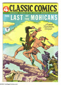 Golden Age (1938-1955):Classics Illustrated, Classic Comics #4 The Last of the Mohicans HRN 21 (Gilberton, 1945)Condition: VF+. James Fenimore Cooper's famous novel in ...
