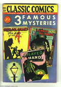 Golden Age (1938-1955):Classics Illustrated, Classic Comics #21 Three Famous Mysteries (Gilberton, 1944)Condition: VG/FN. Original edition (Courier edition). Adaptation...