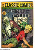 Golden Age (1938-1955):Classics Illustrated, Classic Comics #29 The Prince and the Pauper - First edition(Gilberton, 1946) Condition: VG-. Original printing with horror...