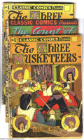Golden Age (1938-1955):Classics Illustrated, Classic Comics Group (Gilberton, 1940s). Five books in this lotinclude Classics Comics #1, 3, and 5, with two copies of... (Total:5 items Item)