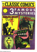 Golden Age (1938-1955):Classics Illustrated, Classic Comics #21 and 22 First Edition Group (Gilberton, 1942). Original printings of both books, #21 (3 Famous Mysteries... (Total: 2 Comic Books Item)
