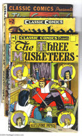 Golden Age (1938-1955):Classics Illustrated, Classic Comics HRN 18 Group (Gilberton, 1940s). Five books, allwith HRN 18, include: #1 (The Three Musketeers - VG), 2 ... (Total:5 Comic Books Item)