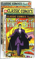 Golden Age (1938-1955):Classics Illustrated, Classic Comics HRN 20 Group (Gilberton, 1940s). Early issues, each with HRN 20, include #3 (The Count of Monte Cristo - ... (Total: 4 Comic Books Item)