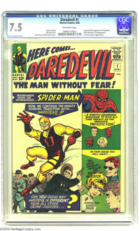Daredevil #1 (Marvel, 1964) CGC VF- 7.5 Off-white pages. This #1 issue features the origin and first appearance of Dared...