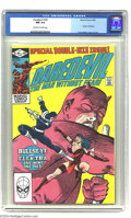 "Modern Age (1980-Present):Superhero, Daredevil #181 (Marvel, 1982) CGC NM 9.4 Off-white to white pages.""Death"" of Elektra. Frank Miller cover and art. Overstree..."