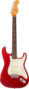 Musical Instruments:Electric Guitars, 2000 Fender Stratocaster Candy Apple Red Solid Body Electric Guitar, Serial #V128188.. ...