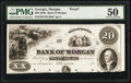 Obsoletes By State:Georgia, Morgan, GA- Bank of Morgan $20 18__ Haxby Unlisted Proof PMG About Uncirculated 50, POCs.. ...