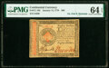 Colonial Notes:Continental Congress Issues, Continental Currency January 14, 1779 $80 PMG Choice Uncirculated 64 EPQ.. ...