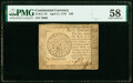Colonial Notes:Continental Congress Issues, Continental Currency April 11, 1778 $40 PMG Choice About Unc 58.. ...
