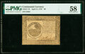 Colonial Notes:Continental Congress Issues, Continental Currency April 11, 1778 $6 PMG Choice About Unc 58.. ...