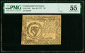 Colonial Notes:Continental Congress Issues, Continental Currency May 20, 1777 $8 PMG About Uncirculated 55.. ...