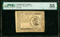 Colonial Notes:Continental Congress Issues, Continental Currency May 20, 1777 $3 PMG About Uncirculated 55.. ...