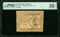 Colonial Notes:Continental Congress Issues, Continental Currency November 2, 1776 $3 PMG About Uncirculated 55 EPQ.. ...