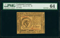 Continental Currency July 22, 1776 $8 PMG Choice Uncirculated 64