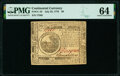 Colonial Notes:Continental Congress Issues, Continental Currency July 22, 1776 $6 PMG Choice Uncirculated 64.. ...
