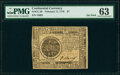 Colonial Notes:Continental Congress Issues, Continental Currency February 17, 1776 $7 PMG Choice Uncirculated 63.. ...