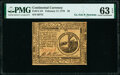 Colonial Notes:Continental Congress Issues, Continental Currency February 17, 1776 $2 PMG Choice Uncirculated 63 EPQ.. ...
