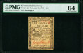 Continental Currency February 17, 1776 $1/3 PMG Choice Uncirculated 64