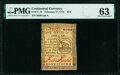 Colonial Notes:Continental Congress Issues, Continental Currency February 17, 1776 $1/6 PMG Choice Uncirculated 63.. ...