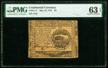 Continental Currency May 10, 1775 $4 PMG Choice Uncirculated 63 EPQ