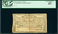 Colonial Notes:New Hampshire, New Hampshire August 24, 1775 £3 PCGS Extremely Fine 45.. ...