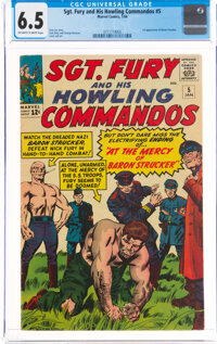 Sgt. Fury and His Howling Commandos #5 (Marvel, 1964) CGC FN+ 6.5 Off-white to white pages