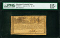 Colonial Notes:Maryland, Maryland July 26, 1775 $2-2/3 PMG Choice Fine 15 Net.. ...