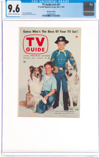 TV Guide V3#27 Wisconsin Edition (TV Guide Magazine Group, Inc., 1955) CGC NM+ 9.6 Cream to off-white pages