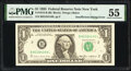 Error Notes:Inking Errors, First Print Insufficient Inking Error Fr. 1913-B $1 1985 Federal Reserve Note. PMG About Uncirculated 55.. ...