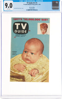 TV Guide V1#1 New York Edition (TV Guide Magazine Group, Inc., 1953) CGC VF/NM 9.0 White pages