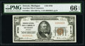 Detroit, MI - $50 1929 Ty. 1 The National Bank of Commerce Ch. # 8703 PMG Gem Uncirculated 66 EPQ.<