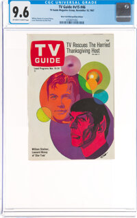 TV Guide V15#46 New York-Metropolitan Edition (TV Guide Magazine Group, Inc., 1967) CGC NM+ 9.6 Off-white to white pages...