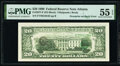 Error Notes:Third Printing on Reverse, Overprint on Back Error Fr. 2077-F $20 1990 Federal Reserve Note. PMG About Uncirculated 55 EPQ.. ...