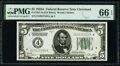 Small Size:Federal Reserve Notes, Fr. 1951-D $5 1928A Federal Reserve Note. PMG Gem Uncirculated 66 EPQ.. ...