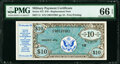Series 472 $10 Replacement PMG Gem Uncirculated 66 EPQ